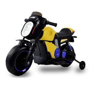 Moto Elettrica Per Bambini 12v Kid Smile Scrambler Gialla
