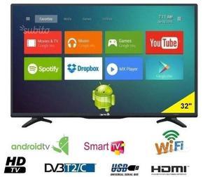 "TELEVISORE TV LED HD Ready 32"" Smart TV Android T2"