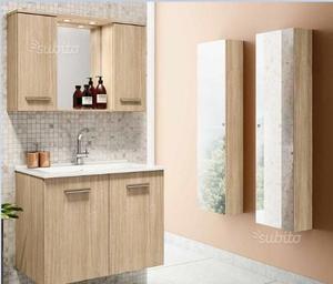 Bagno completo in quercia o bianco laccato lucido