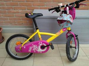 "Bicicletta bambina 14"" + rotelle"