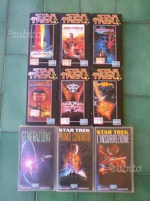 Lotto VHS Star Trek - I Primi 9 Film ()