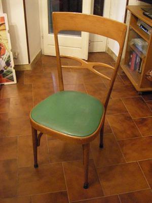 n.6 sedie stile anni '70 in discrete condizioni