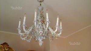 Lampadario Antico Con Angeli : Lampadario antico capodimonte angeli fiori posot class