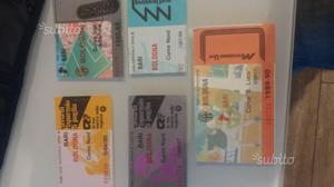 Lotti biglietti usati di calcio bari e altre di A