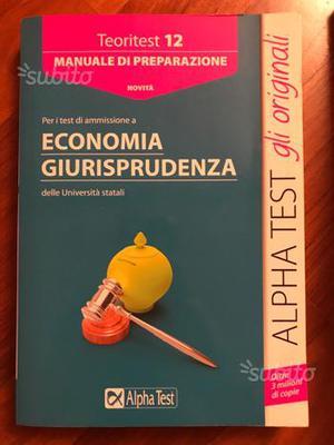 Alpha Test Giurisprudenza Economia