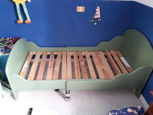 lettino allungabile  cm in legno massello
