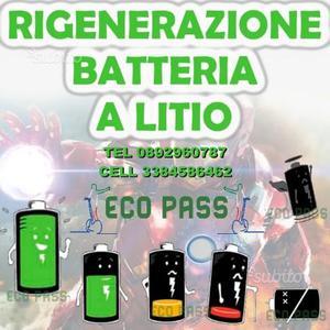 Ricellaggio/Rigenerazione batteria a litio