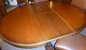 Regalo 6 sedie rivestite in pelle posot class for Tavolo rotondo estensibile