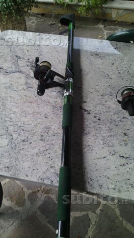 Canna da pesca da fondo con molinello