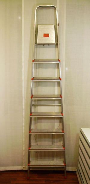 SCALA alta in alluminio 8 gradini