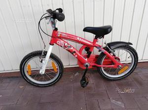 "2 Bici bambino e bambina misura 14"""