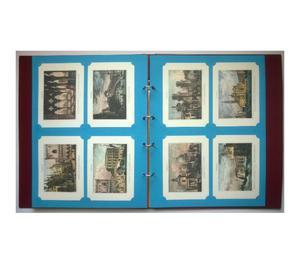 Dossier con 68 stampe colorate da collezione