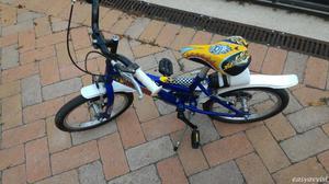 Bicicletta da bimbo misura ruota 16 pollici, età 4-7 anni,
