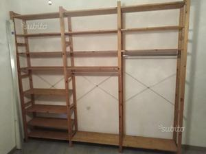 Librerie ivar ikea pino massiccio grezzo posot class for Ikea scaffali legno grezzo