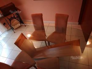 Tavolo in cristallo ovale con capitelli in pietra posot class - Tavolo cristallo allungabile usato ...