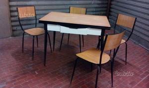 Vintage tavolo Salvarani e 4 sedie abbinate