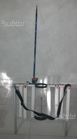 Canne shimano 3 pezzi trota lago posot class for Rastrelliera per canne da pesca