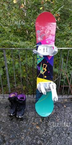 Snowboard Capita Saturnia e scarponi Salomon