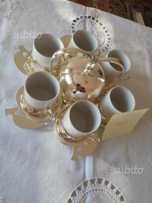 Ann. 5) set tazzine da caffè con zuccheriera
