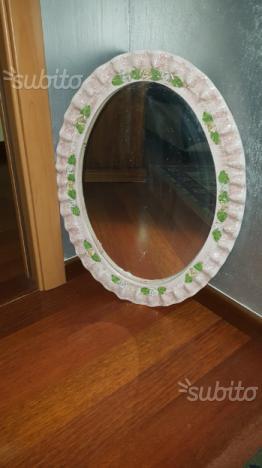 Specchio Ovale in Ceramica