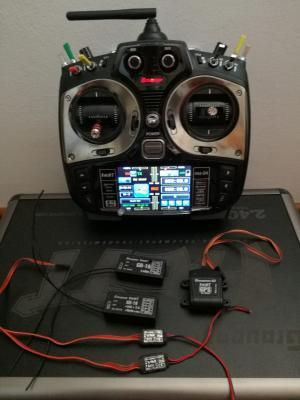 Radiocomando MZ24 Graupner Hott +3 riceventi +Gps +3 sensori