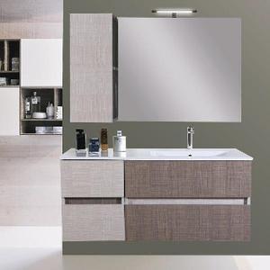 Mobile Bagno Lavabo Decentrato.Composizione Bagno Stella 2 Cassetti Larice Posot Class