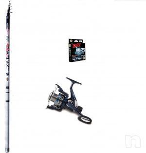 Canna da pesca bolognese metri 6 carbonio top - mulinello e