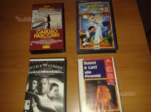 Film in cassette vhs misti