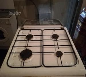 Forno a gas 4 fuochi con forno elettrico
