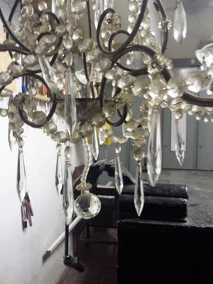 lampadario a gocce, 2 lampade da salotto e lampadario da