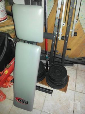 panca/bilanciere prof. più 60 kg di pesi rivestiti in gomma