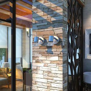 vidaXL Lampada da parete in nichel satinato a parete 2 pezzi