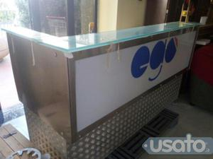 Annuncio Bancone bar con base vetro cristallo