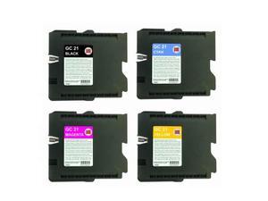 SET 4 Cartuccia compatibile RICOH GC21-x KIT 4 CARTUCCE