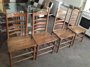 Sedie antiche in legno