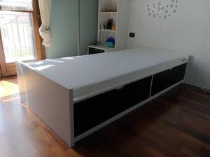 Letto ikea malm letto contenitore orje posot class for Ikea letto flaxa