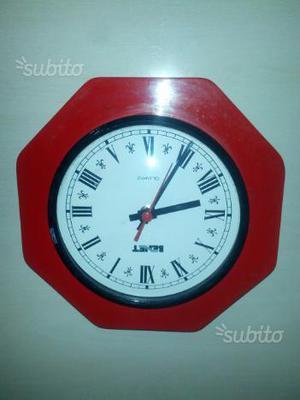 Orologio parete vintage vetro bombato anni
