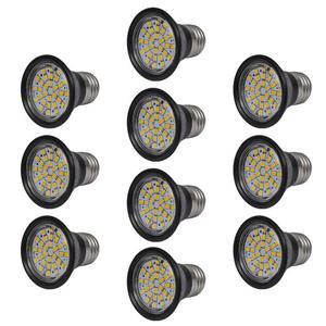 vidaXL Set Riflettori da 10 lampadine LED Nero 3W E27 Colore
