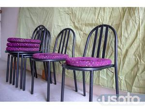 Annuncio 5 sedie di design acciaio con cuscino alcantara