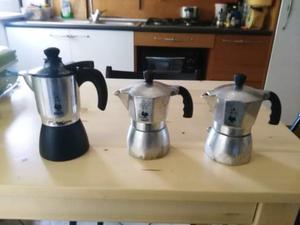 Bialetti caffe espresso Mokacrem e due Bialetti Brikka