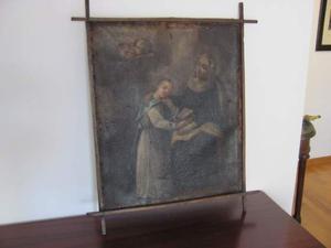 Dipinto a olio madonna del 600