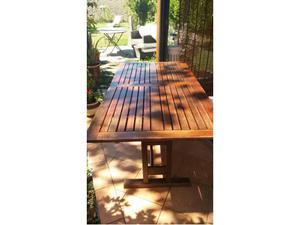 Tavolo in legno allungabile da giardino