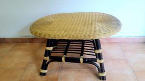 Tavolino in giunco