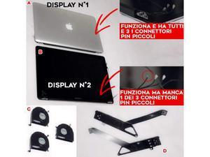 "Ricambi originali e funzionanti Apple MacBook Pro 15"" late"