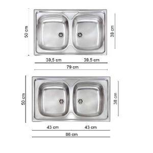 Lavello 1 due vasche naked