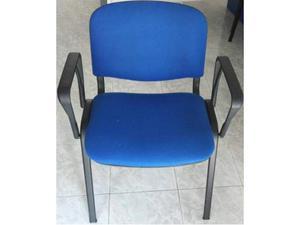 Sedie da ufficio robuste in tessuto blu