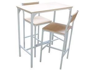 Mobile bar con sgabelli e mensola scrivania posot class