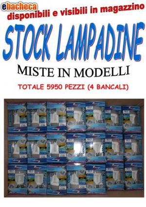 Vendo stock lampadine mod
