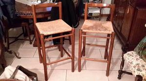 Sgabelli alti in legno con schienale posot class