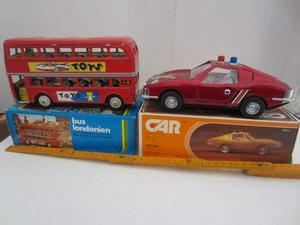 LATTA Vintage:Bus Londra Toys e Auto Maserati o Lamborghini
